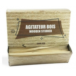 Lot de 1000 agitateur bois 14 cm
