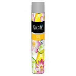 Lot de 12 aérosols Boldair parfumant citron lotus 750 ml