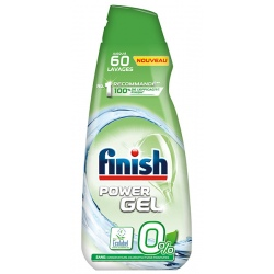 Lot de 5 flacons Finish power gel 0% Ecolabel 900 ml