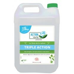 Lot de 4 bidons de nettoyant sols triple action Ecolabel 5 L