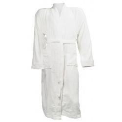 Kimono peignoir Agapanthe coton 340g blanc