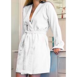Peignoir kimono Muguet coton 270g blanc