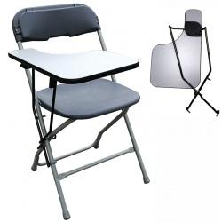 Lot de 8 chaises pliantes et  accrochables Mathilde M2 avec tablette