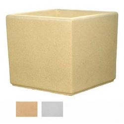 Jardinière carrée myrtille blanche ou ocre 60x60x60 cm