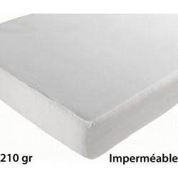 Lot de 6 protèges matelas drap housse imperméable coton et pu 210g 140x190 cm