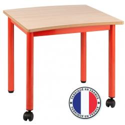 Table maternelle modulable plateau stratifié 21 mm 60 x 60 cm T4