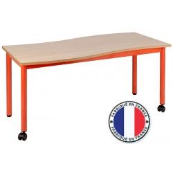 Table maternelle modulable plateau stratifié 21 mm 120 x 60 cm T2