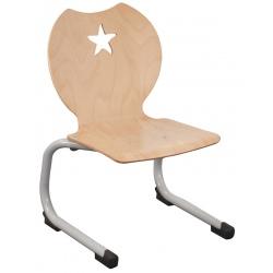 Chaise coque bois appui sur table Etoile T1