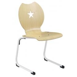 Chaise coque bois appui sur table Etoile T3