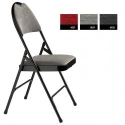 Lot de 4 chaises pliantes accrochables Loan assise et dossier tissu M1 Vogue