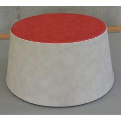 Pouf 1 place Caline sans pied mousse et tissu 1 Ø69,5x H35cm