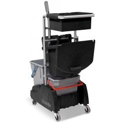 Chariot de ménage avec seaux + presse + collecteur déchets 30L RE-Flo 2