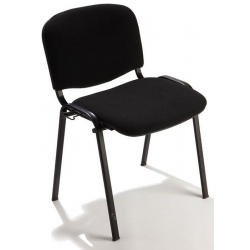 Chaise empilable Cluny tissu non feu M1 pieds noirs