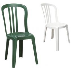 Lot de 76 chaises Miami Bistrot (coloris blanc ou vert amazonie)