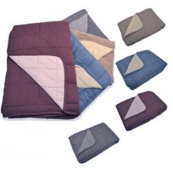 Lot de 6 jetés de lit bicolores matelassés 250g non feu M1 180x260 cm