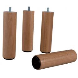 Pied bois cylindrique diam 55 h 25 cm coloris naturel