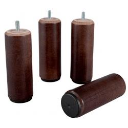 Pied bois cylindrique diam 55 h 25 cm coloris wengé