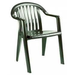 Lot de 25 fauteuils bas Miami Club vert amazonie