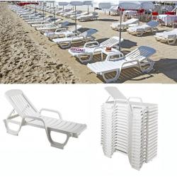 Lot de 24 bains de soleil blanc Miami