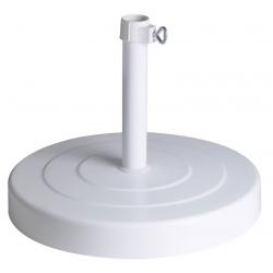 Base parasol blanc 30kg en tube aluminium