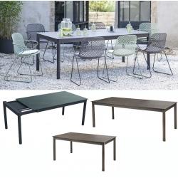 Table Ramatuelle extensible gris pavement 160/210x95 cm