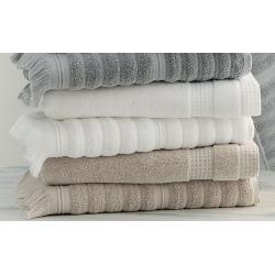 Maxi drap de bain 100% coton bio blanc ciselé 100x150 cm 500 g