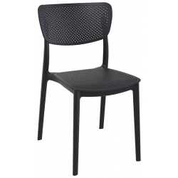 Chaise empilable Lucy noire