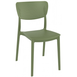 Chaise empilable Lucy vert olive