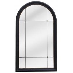 Miroir Antique noir et doré L80 x H135 cm