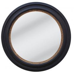 Miroir Célia noir et doré ø 110 cm