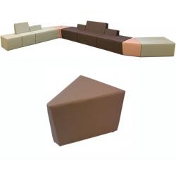 Pouf 1 place Nodal intérieur 45° L55,5 cm tissu 1