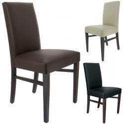 Lot de 2 chaises Seville bois et simili cuir