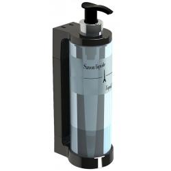 Distributeur de savon JVD Isiss translucide et noir 300 ml