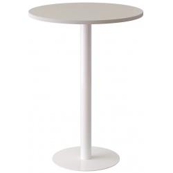 Mange debout plateau blanc ou hêtre Ø 80 x H 110 cm