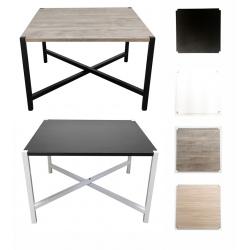 Lot de 4 tables basses pliables et empilables Modul avec plateau carré MDF