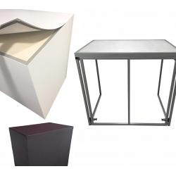 Buffet pliant Médium avec habillage PVC noir L120 x P80 x H110 cm