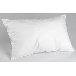Lot de 20 oreillers 60x60 cm blanc 100% microfibre et fibre polyester 450g