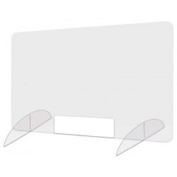 Protection plexi avec passe document L80 x H60 cm