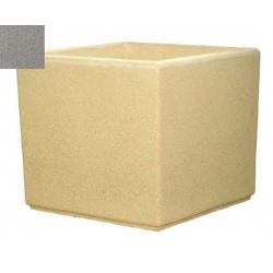 Jardinière carrée myrtille grise 60x60x60 cm