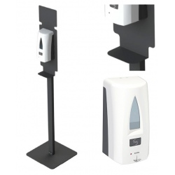 Lot de 20 Stations de désinfection des mains Yaliss blanc (totem + distributeur)