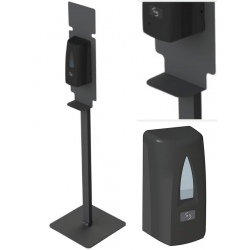 Lot de 20 Stations de désinfection des mains Yaliss noir mat (totem + distributeur)