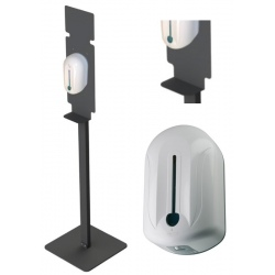 Lot de 20 Stations de désinfection des mains Saphir blanc (totem + distributeur)