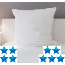 Lot de 14 oreillers 60x60 cm percale blanche mémoire de forme 750 g