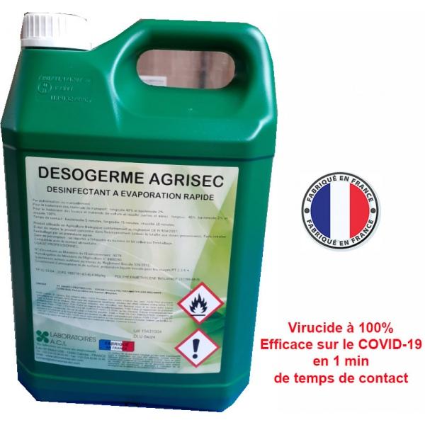 Carton de 6 bidons de désinfectant de surfaces Désogerme Agrisec 5L