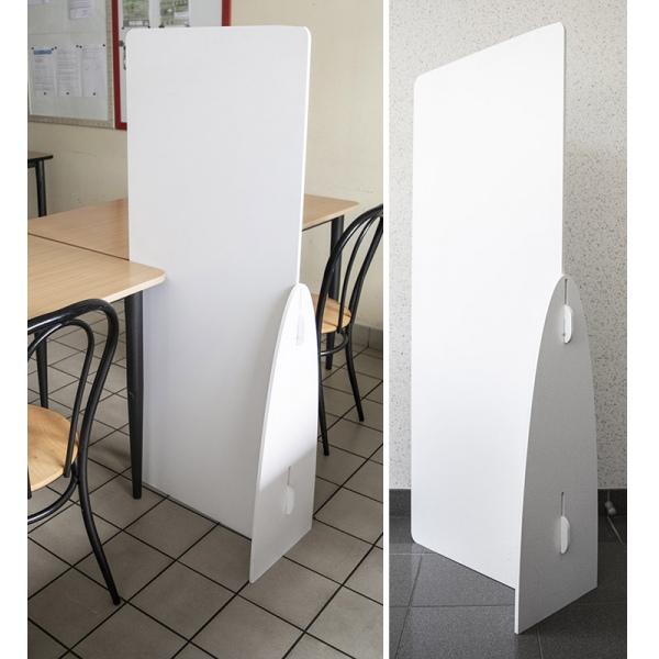 Séparateur autotable en PVC blanc L58 x P30 x H140 cm
