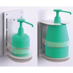 Support métal en L pour gel hydroalcoolique
