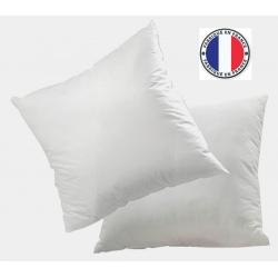 Lot de 8 oreillers blancs microfibres et fibres recyclées 600 gr 60 x 60 cm