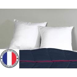 Lot de 8 oreillers blancs lavables à 90 polycoton et fibres creuses 600 gr 60 x 60 cm