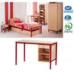 Bureau Alizés avec niche et tiroir L120xH75xP60 cm