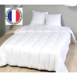 Lot de 8 oreillers blancs lavables à 90 coton percale et fibres creuses 550 gr 45 x 70 cm